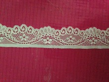 35mm 3.5cm  width 60meters ivory gorgeous new pattern elasitc stretchy lace trim for DIY sewing wedding bridal, headband garter