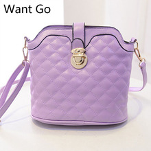 Want Go Fashion Lady Solid Shoulder Bag Newest Pu Leather Women Crossbody Bag Female Stylish Messenger Bag With Zipper Closure