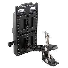 CAMVATE V Lock Mounting Plate Power Supply Splitter with Super Clamp Crab Pliers Clip Ball Head Mount C1584
