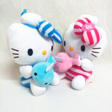 2016new 25 cm the height of the Hello Kitty teddy doll sitting on birthday gifts for the children KT cat valentine's day