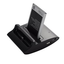 3 in1 Charging Dock For Samsung S4 I9500 NOTE 4 Dual OTG USB Sync Battery Charging Charger Dock Holder Cradle Battery Charger
