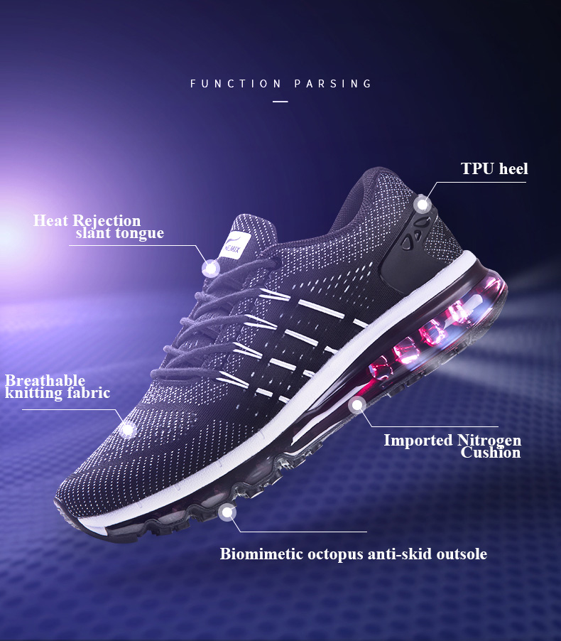 17 Air Cushion Running Shoes Breathable Massage Sneakers Man Jogging Sport Sneakers for Outdoor Walking Shoe Run Comfortable 3