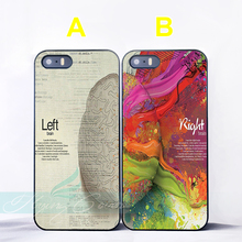 Coque Left Right Brain Art Lovers Couple Cases for iPhone X 8 8Plus 7 6 6S 7 Plus SE 5S 5C 5 4S 4 Case for iPod Touch 6 5 Cover.(China)