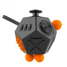 Mini Fidget Cube Keychain Squeeze Fun Stress Reliever 12 Sides Fidget Cube Children Desk Toy Xmas Birthday Gift