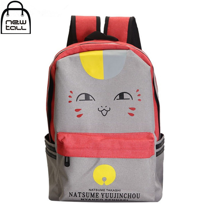[NEWTALL] Natsumes Book of Friends Nyanko Sensei Anime Canvas Shoulder Bag Student Backpack Pad Laptop Travelling Bags A1048<br><br>Aliexpress