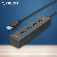 ORICO Superspeed Portable 4 Ports USB 3.0 HUB for Laptop/Ultrabook with Vl812 Chipsets for Notebook/Desktop-Black(W8PH4)