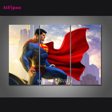 AtFipan Modern Canvas Art Poster Superman Wall Pictures For Living Room Unframed Home Decor Cuadros Vintage Painting On Canvas