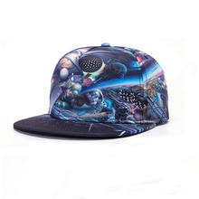 2017 Brand New Fitted Hat Baseball Cap 3D Galaxy Space Print Caps Casual Snapback Hats For Men Women Wholesale