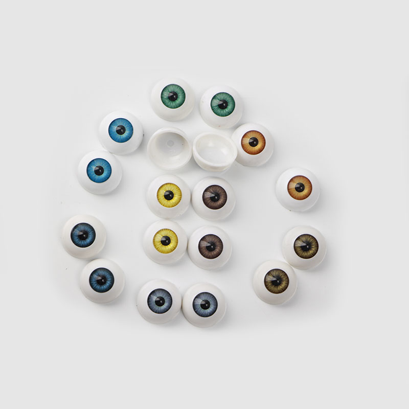 High-quality 14 mm Acrylic Eyes Prepared For 14'' Reborn Doll 8 Colors Half Round Eyeball DIY Toy Accessories Free Shipping(China (Mainland))