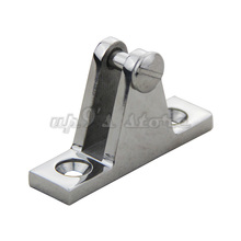 Free Shipping 2PCS Marine Boat Hardware 316 Stainless Steel Bimini Top Cover Fitting Deck Hinge 90 Degree Pin