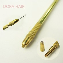 4 pcs Ventilating Needles +1 Brass Holder Make/Making/Repair Lace Wigs Toupee Hairpiece Wig Knotting Hook Sets