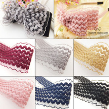 5yards/lot 6cm Chiffon yarn imports of money lace bud ribbon novice DIY jewelry accessories necessary material price 1 yards