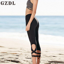 GZDL Summer Women Skinny Fitness Ankle-Length Pants Mid Waist Solid Milk Silk Wrap Girls Streetwear Pencil Pants Trousers CL3914