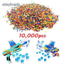 Abbyfrank 10000 PCS Colorful Soft Crystal Water Paintball Bullet Orbeez Gun Toy Bibulous Air Dart Bullet Gun Accessories