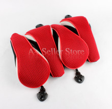 Free Shipping Black&Red Mesh Material UT Golf Headcover for Hybrid Golf Club Head Covers