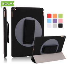 Case for iPad Air 2nd, GOLP Ultra Slim PU Leather Cover  360 degree Rotating Handheld PC tablet Case For iPad Air 2nd / iPad 6