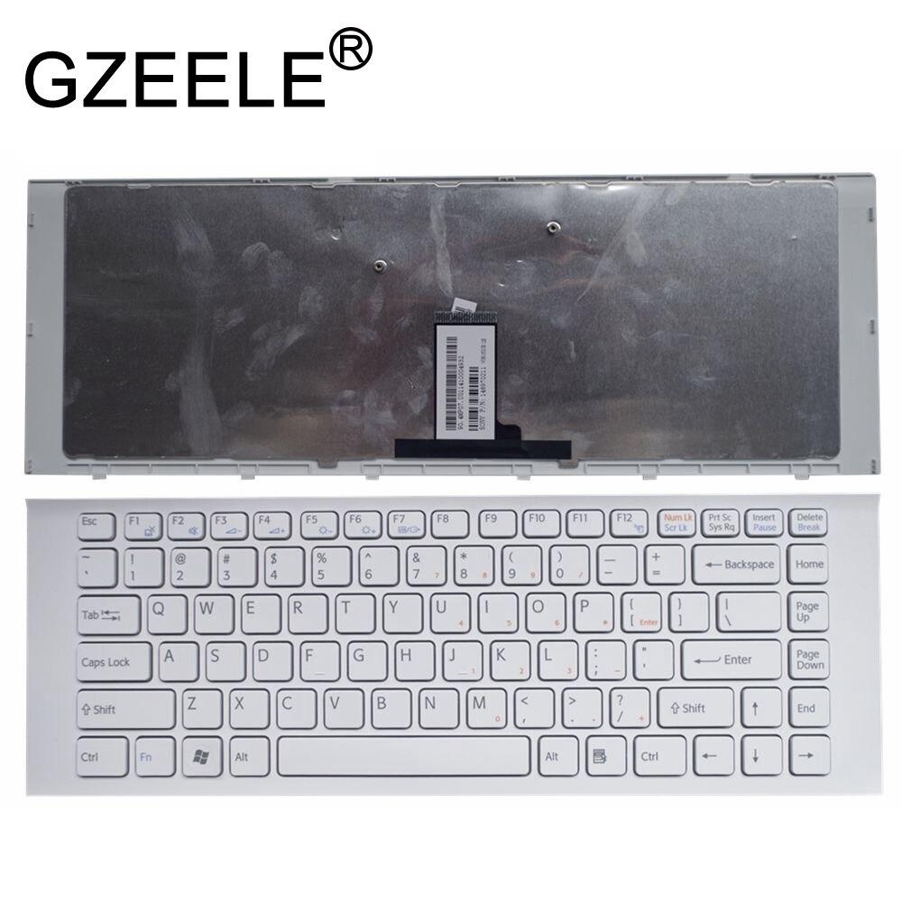 OEM Sony Vaio VPCEG14FX VPCEG14FX//P VPCEG14FX//W Keyboard White With Frame NEW