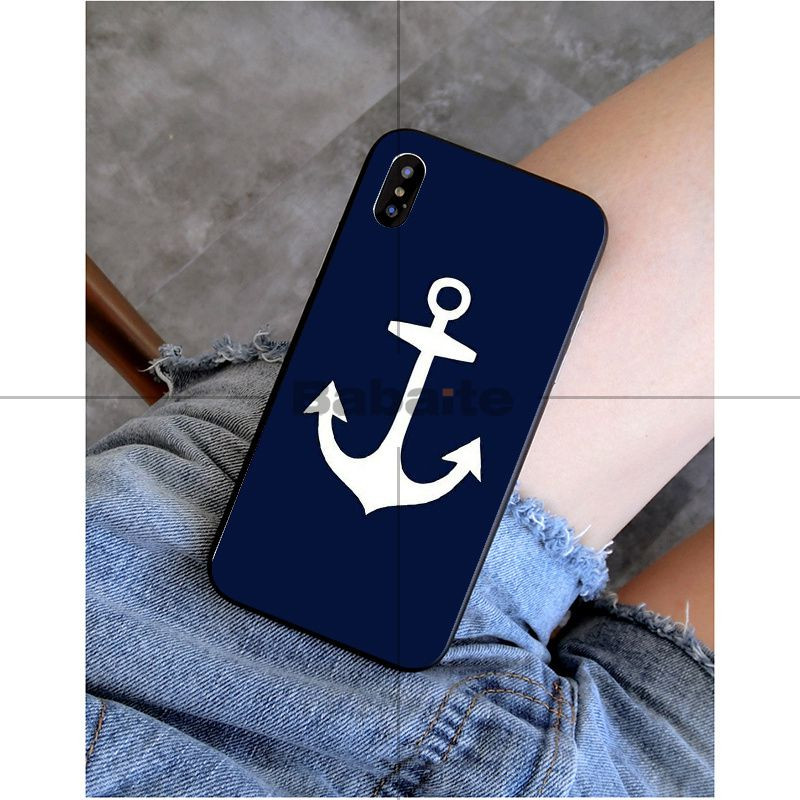 Anchor boat blue heart stripe