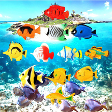 12pcs Small Size Sea Life Model Toys PVC Pool Fish Toy Early Education Marine Animals Assorted Ocean Pet Figures Party Toy Gift