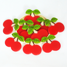 27mm Flatback Glitter Cherry,Fruit Planar Slice,Resin Cabochons,Resin Miniatures,Home D.I.Y Supplies(China)