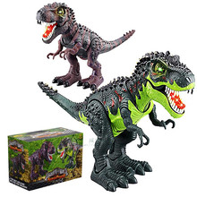 PVC Electronic Tyrannosaurus Rex Toy, Electric Dinosaur Robot With Flashing & Sounding, Dinosaurs For Games, Hot Toys Brinquedos
