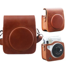 Brown Color PU Leather Protective Case Bag Cover Pouch with Shoulder Strap For Fuji Instax Fujifilm Instant Mini 70 Camera(Hong Kong)