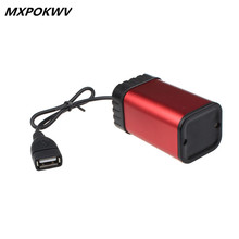 MXPOKWV Waterproof Aluminum alloy USB AA Battery Box 4xAA Rechargeable Battery Pack Case Holder Box For Bicycle Cycling Light