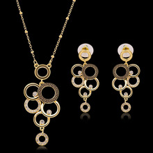 2Pcs/Set Lovely Grape Shaped Unique Jewelry Sets For Women Rhinestone Necklace Pendant For Anniversary