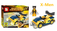 X-Men Wolverine Marvel DC Avengers Building Bricks Super Her  Vehicle Set Block Figure Toys Compatible With Lego