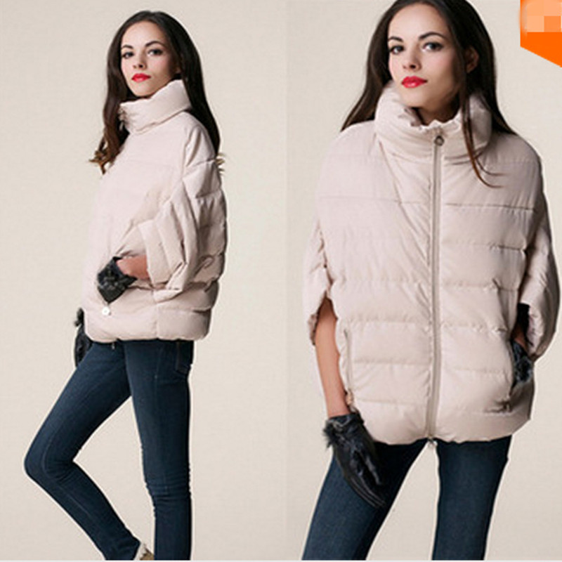 New Arrival Womens Fashion Down Cotton Jacket Winter Outerwear Bat Sleeve Women Jackets Parka Overcoat Loose Casual Coat C1183Îäåæäà è àêñåññóàðû<br><br>