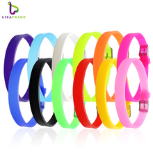 20PCS 8MM Silicone Wristband Bracelets (12 colors can choose) DIY Accessory Fit 8mm Slide Letter /Slide Charms LSBR09*20(China)