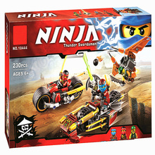 2016 New BELA 10444 Ninja Bike chase Building Blocks Set 3 In 1 Kai's Blade Bricks toys Compatible with 70600
