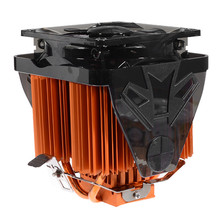 Newest Powerful 100x100x135mm 4 Copper Heat Pipe CPU Cooler Fan for Desktops Computer Adopts Hydraulic Structure Ultra Quiet Fan