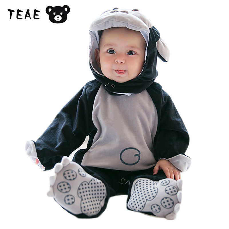 Childrens Winter Jumpsuit Overalls Rompers for Kids Baby Boys Girls Hoodies Clothes Set Toddler infantil Christmas Costume<br>