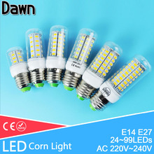 Buy LED Bulb 24~99leds lampada led E14 E27 LED Lamp 220V 110V LED Corn Bulb Light Lamparas Ampoule Bombillas Cold Warm White for $1.36 in AliExpress store