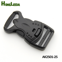 20pcs AK2501-25mm black plastic buckles Dual adjustable & security buckle backpack webbing strap free shipping(China)