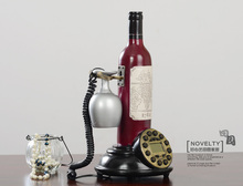 originality telephone fixe sans fil Europe style winebottle Applicable to the world landline phone home phone telephone vintage