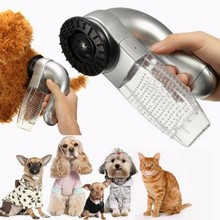 Cat Dog Pet Hair Fur Remover Shedd Grooming Brush Comb Vacuum Cleaner Trimmer AA battery support poodle care tool drop ship