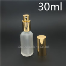 Free shipping 10pcs/lot 30ml Transparent frosted Glass Bottle, Essential Oil Spray Glass Bottle, Empty Perfume Packing Bottle()