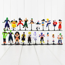 10pcs/lot Dragon Ball Z GT Figure Toy Goku Vegeta Goten Cell Frieza Piccolo Master Roshi DBZ Model Doll for Kids