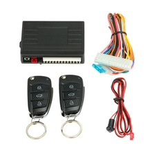 Hot  Car Alarm System Remote Control Central Locking Door kit Keyless Entry System with Button Start Stop LED Keychain