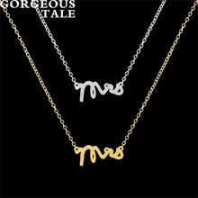 GORGEOUS TALE 10PCS Link Chain Necklace For Men Letter Pendant Necklace Metal Cheerleading Gifts Trending Products Boho Jewelry