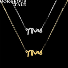 GORGEOUS TALE 10PCS Link Chain Necklace For Men Letter Pendant Necklace Metal Cheerleading Gifts Trending Products Boho Jewelry(China)