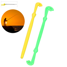 2PCS 12cm Fly Carp Fishing Hook Loop Tie Fast Knot Tyer Tool for Sea Fishing Line Knots Tier Tool Kit Fish Tackle Yellow Green