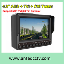 Free shipping Wrist AHD TVI CVI CCTV Test Monitor with 4.3 inch LCD,Multi-function AHD TVI CVI Security Test Tool 5MP TVI 3.0