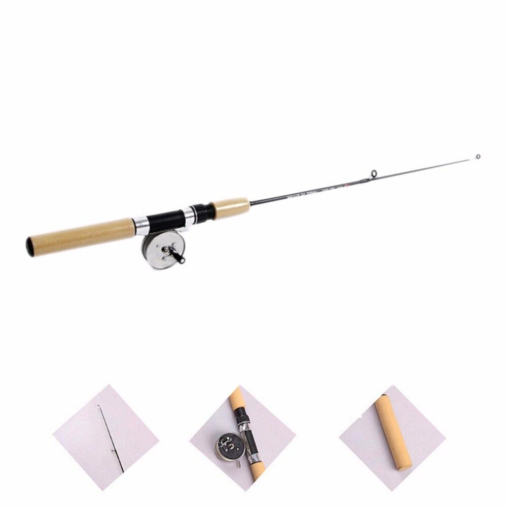 35-80cm Winter Ice Fishing Rod Pen Valve Pole Lure Mini Tackle Mini Rods Telescopic Fishing Accessories