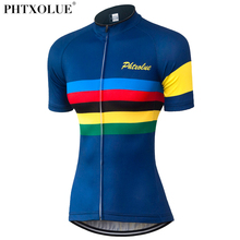 Phtxolue Verano Mujeres Ciclismo Jersey Transpirable Mtb Mountain Bike Wear Camisa Camisa Ciclismo Ciclismo Ropa QY0339