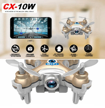 Cheerson CX-10WD CX-10WD-TX High Hold Mode 0.3MP Camera 2.4G 6-axis Phone WIFI FPV Control RC Mini Helicopter Quadcopter CX10WD