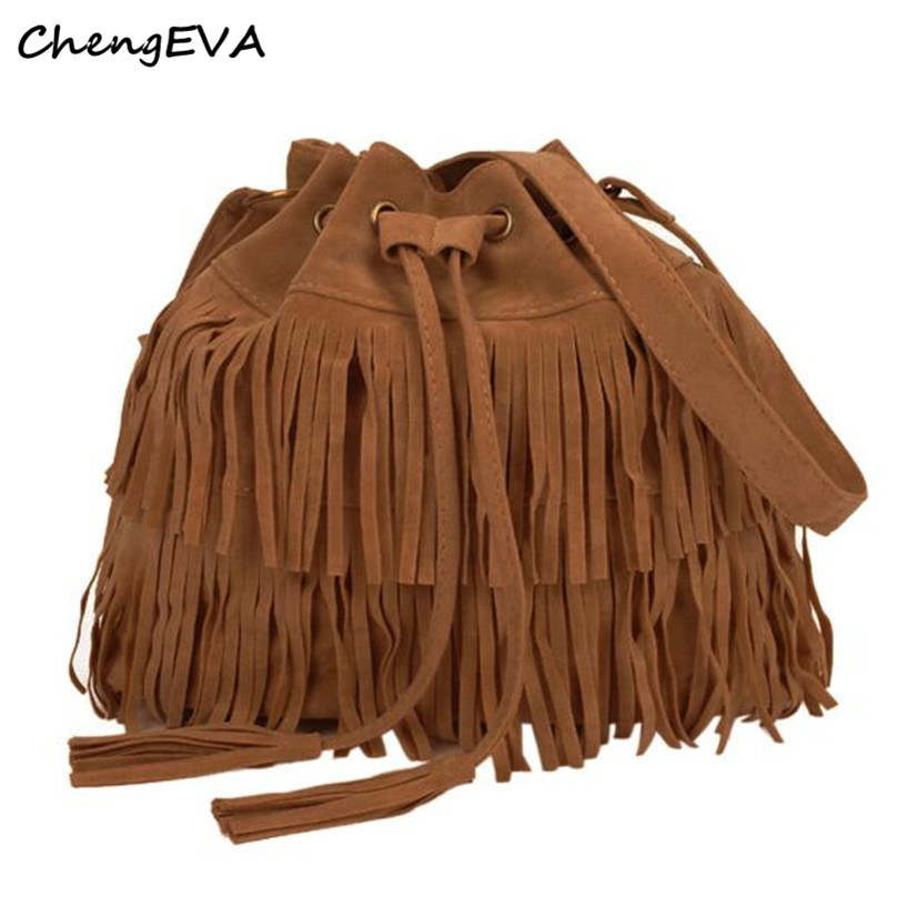 Hot Sale Attractive Elegant Women Fashion Messenger Women Fashion Casual Tassel Solid Bags Drawstring Should Free Shipping Dec 8<br><br>Aliexpress