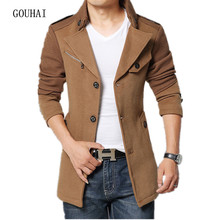 2017 Fashion Men Wool Coat Blends Warm Plus Size M-4XL Solid Casual Windbreaker Men Jacket Casaco Jaqueta Masculina High Quality